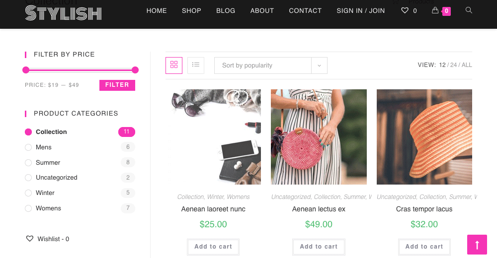 WooCommerce Website Shop